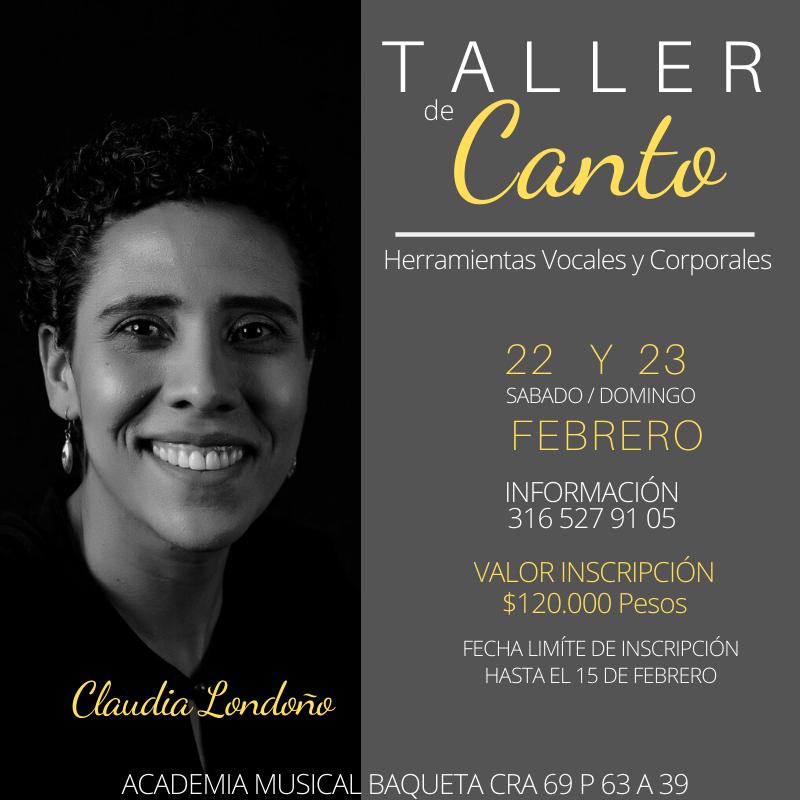 Taller de Canto Herramientas Vocales y Corporales